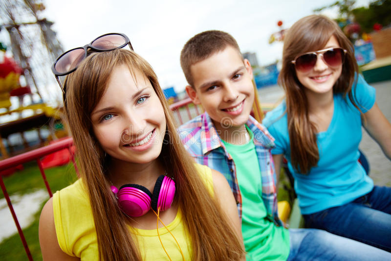 Download Teenage portrait stock photo. Image of girl, looking - 28377296