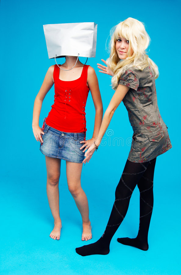Download Teenage Shop-aholics - 2 stock image. Image of girl, addiction - 1446407