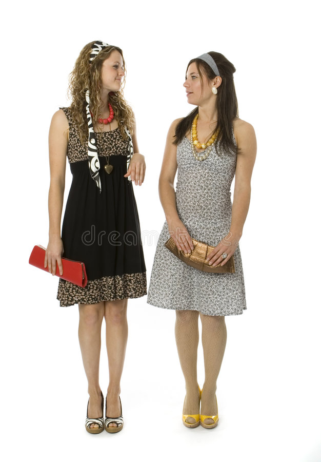 Download Teenage Sisters stock image. Image of lifestyle, dress - 3156275
