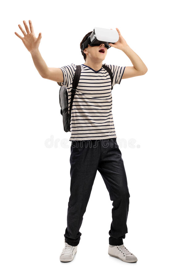 Free Teenage Student With A VR Headset Stock Photo - 91450520