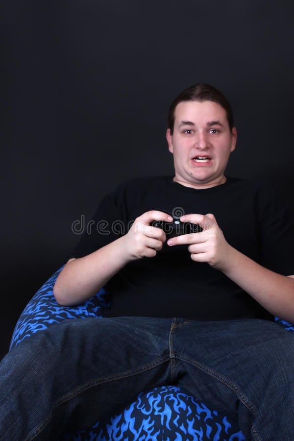 Teenage Video Game Player Royalty Free Stock Photo
