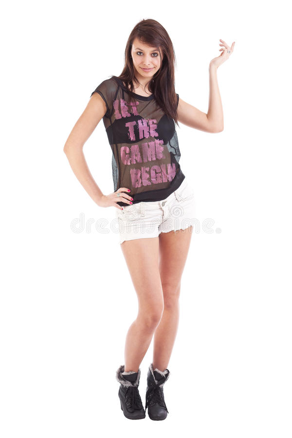 Teenage Wearing Shorts Stock Photography