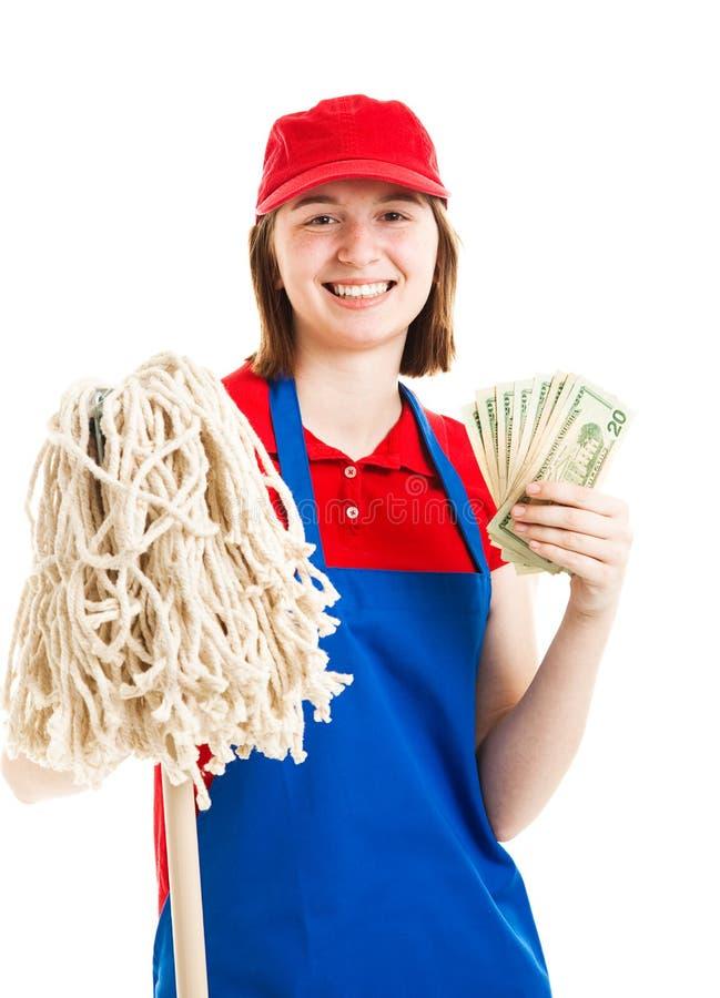 Download Teenage Worker Earning Money Stock Photo - Image: 25876968