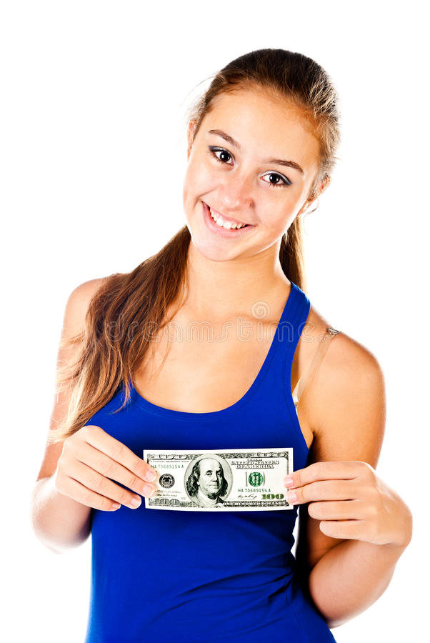 Download Teenager stock image. Image of girl, money, bill, happiness - 27798037