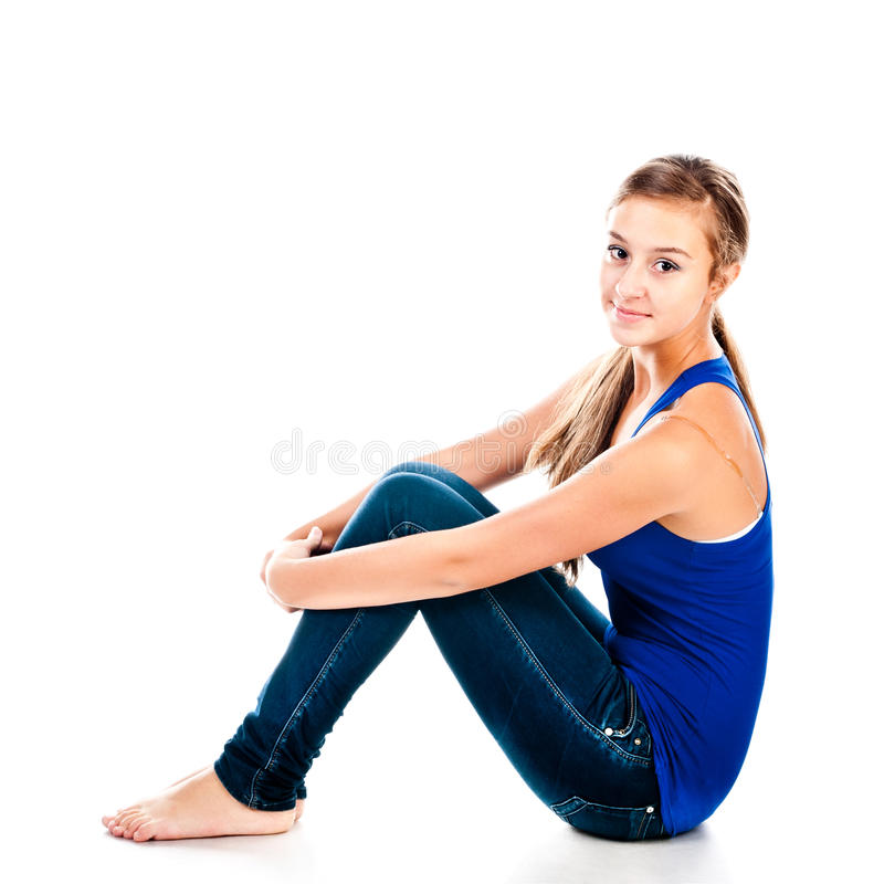Download Teenager stock image. Image of sitting, adorable, beauty - 27798115