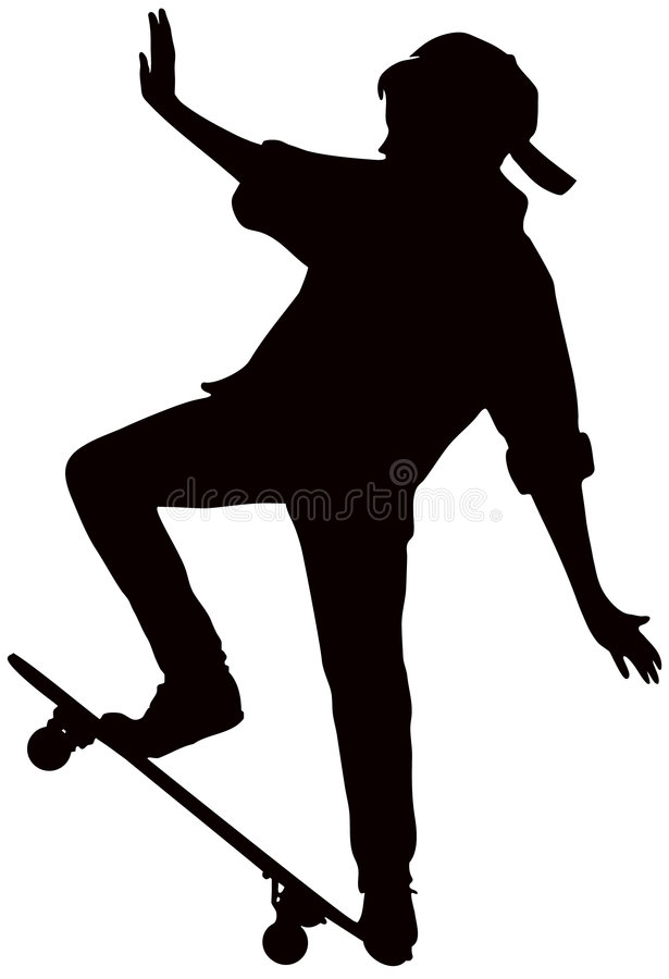 Download Teenager stock vector. Image of game, skateboard, vector - 6642531