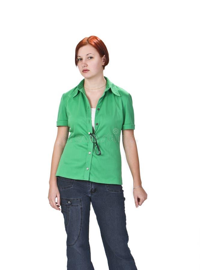 Download Teenager stock photo. Image of feminine, glasses, redhair - 6996426