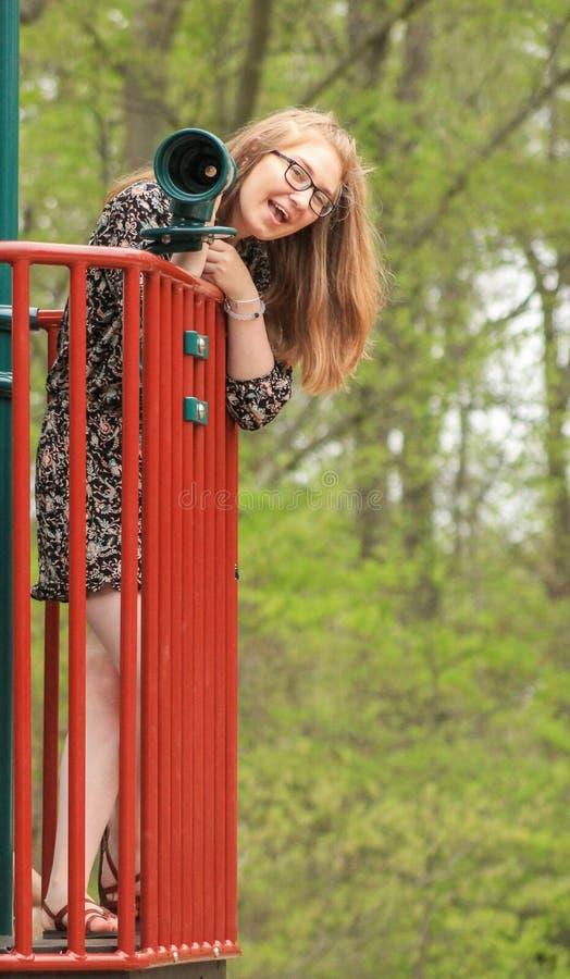 Teenager al parco -7 fotografia stock