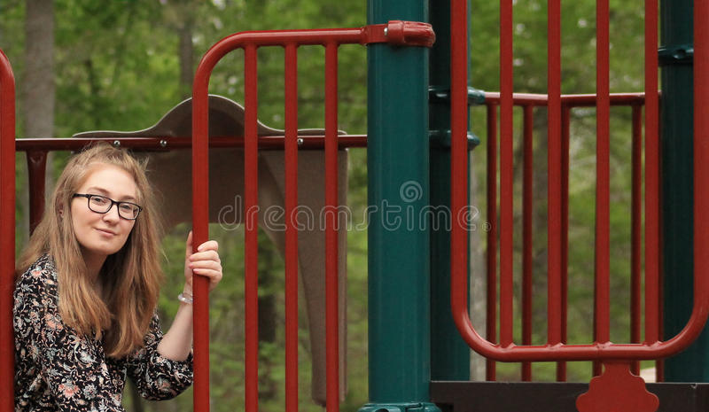 Teenager al parco -4 fotografia stock