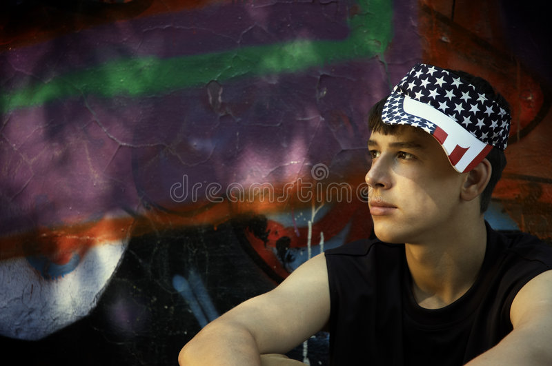 Teenager americano immagini stock