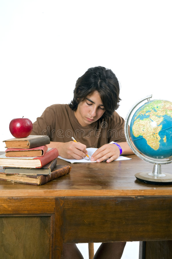 Teenager back to school royalty free stock image