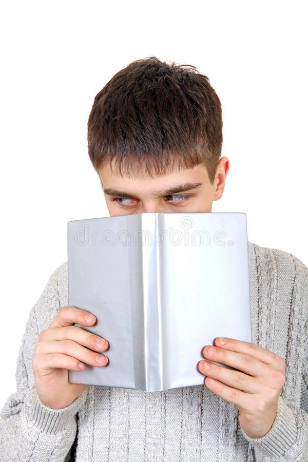 Download Teenager with a Book stock image. Image of male, read - 40602159