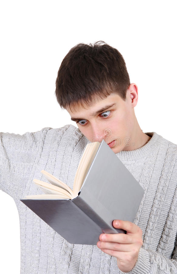 Download Teenager with a Book stock photo. Image of stare, standing - 40602184