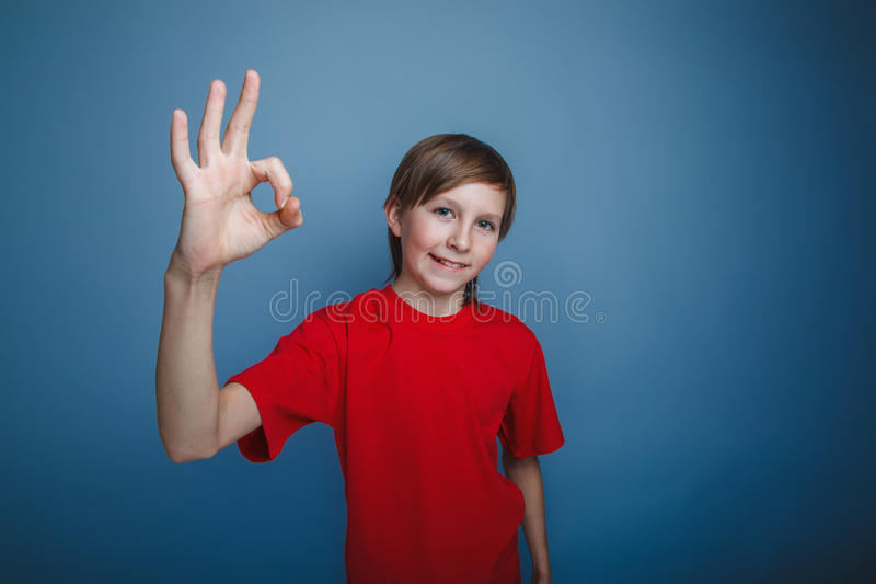 Teenager boy twelve years old European appearance royalty free stock photography