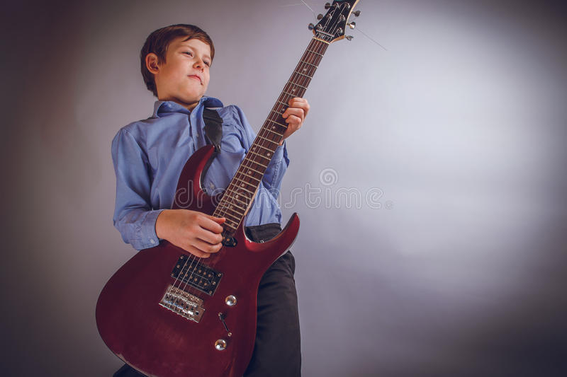 Teenager boy 10 years worth of European appearance royalty free stock photo