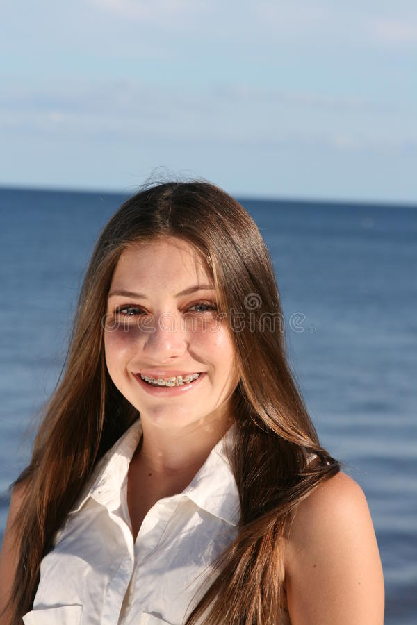 Teenager With Braces Royalty Free Stock Photos