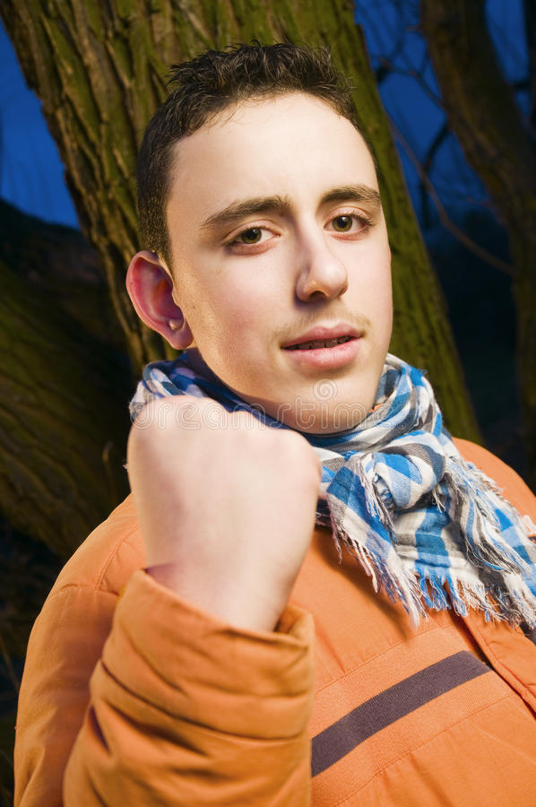 Download Teenager With Clenched Fist Stock Image - Image: 24956889