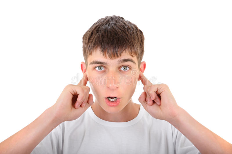 Download Teenager With Closed Ears Royalty Free Stock Image - Image: 34535356