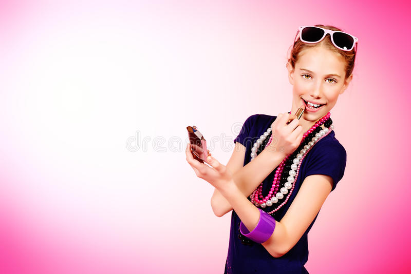 Teenager cosmetics stock images