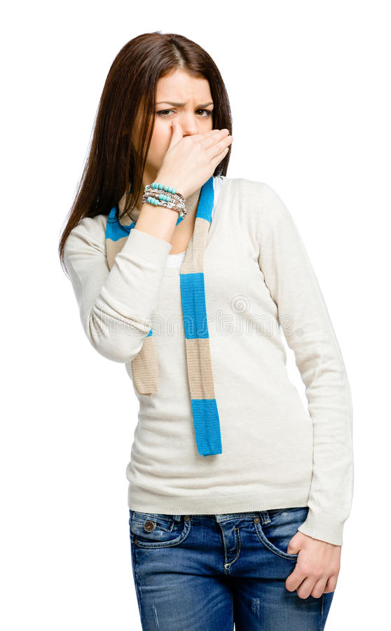 Download Teenager Covering Mouth With A Hand Stock Image - Image: 34732791