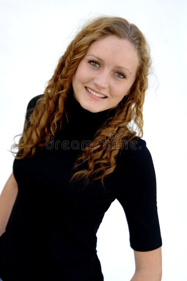 Teenager With Curly Hair Royalty Free Stock Photography