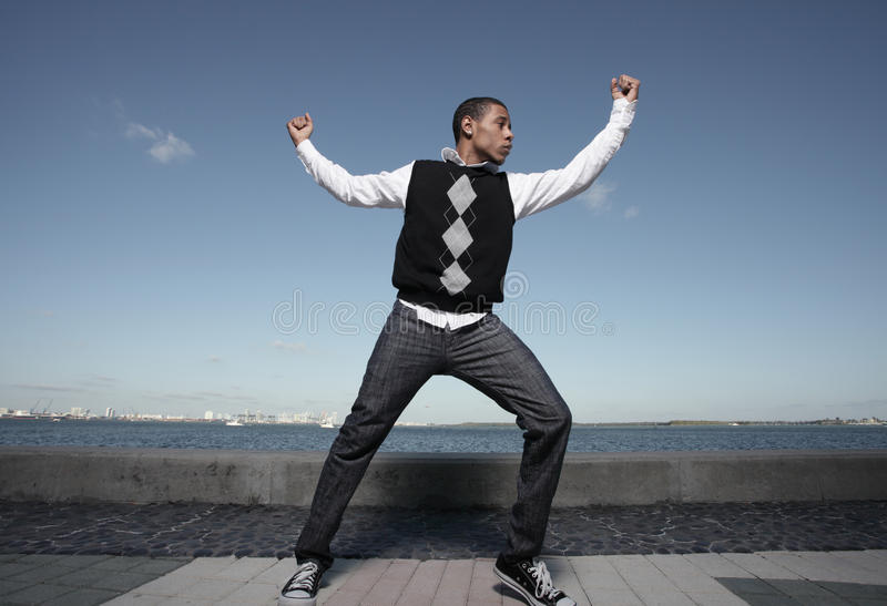 Teenager dancing royalty free stock image