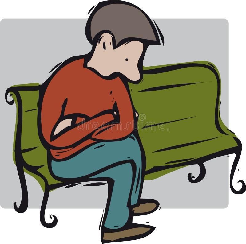 Teenager depresso illustrazione vettoriale