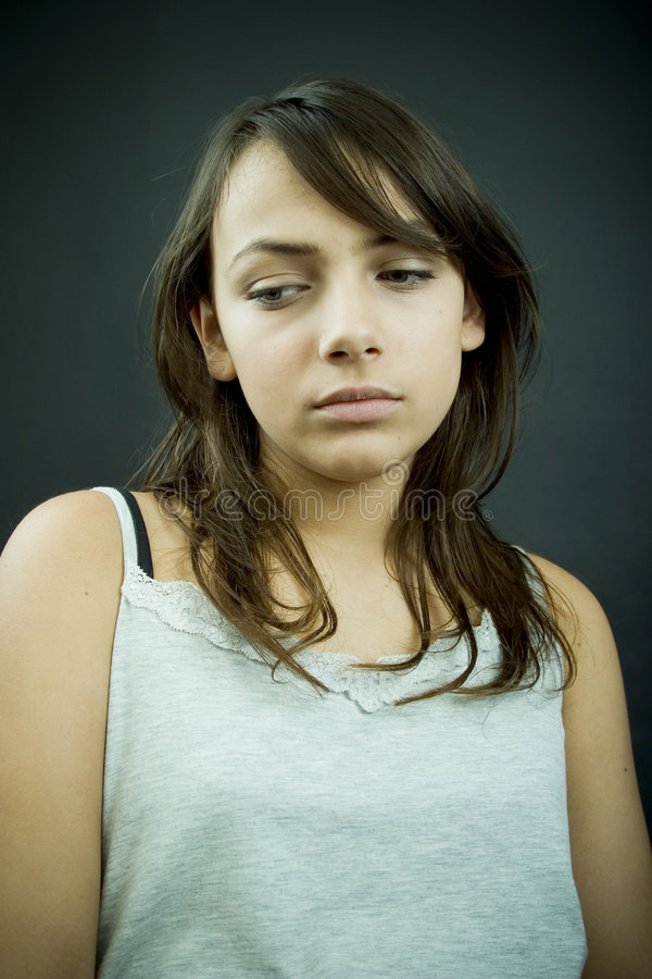 Teenager distratto fotografie stock libere da diritti