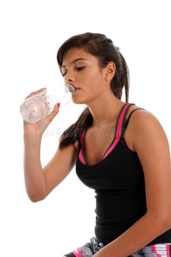 Download Teenager Drinking Water stock photo. Image of fitness - 25469762