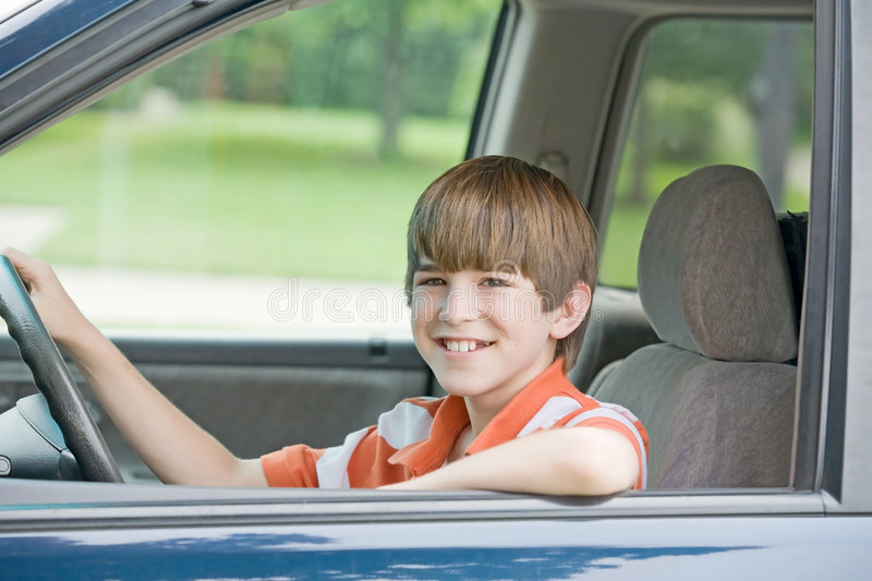 Teenager Driving Royalty Free Stock Photo