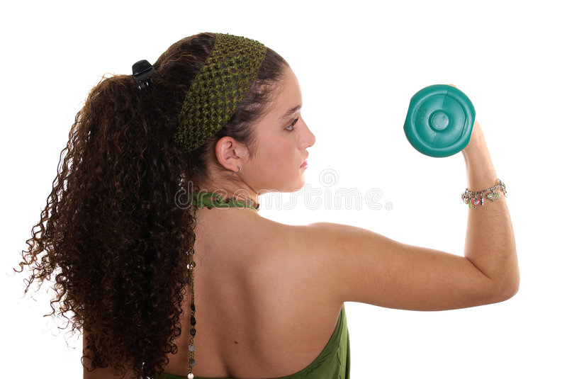 Download Teenager with Dumbbell stock photo. Image of weight, back - 1707508