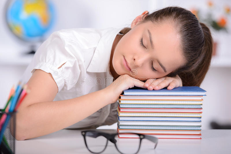 Teenage Resting On Stack Of Books Stock Image - Image Of Break, Book 19510487-1660
