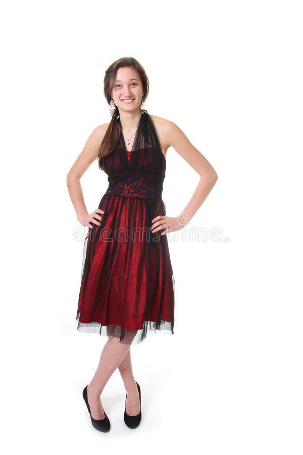 Download Teenager With Evening Dress Stock Photo - Image: 23470644