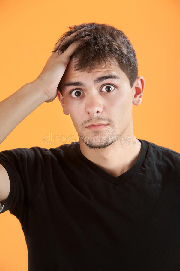 Download Teenager Forgets stock image. Image of oops, background - 18503111