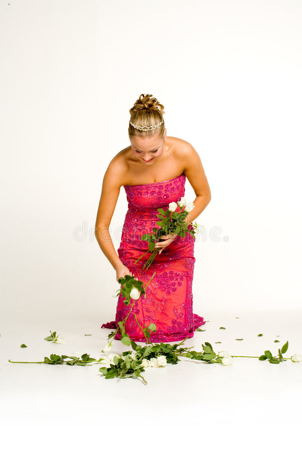 Download Teenager Gathering Roses Stock Photos - Image: 1534303