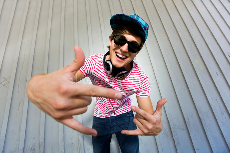 Download Teenager gesturing stock image. Image of hands, cool - 15065075