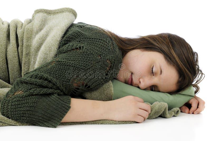 Teenager giovane di sonno fotografie stock