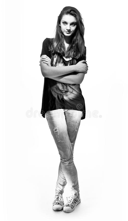 Download Teenager girl stock image. Image of teenager, black, face - 18252267