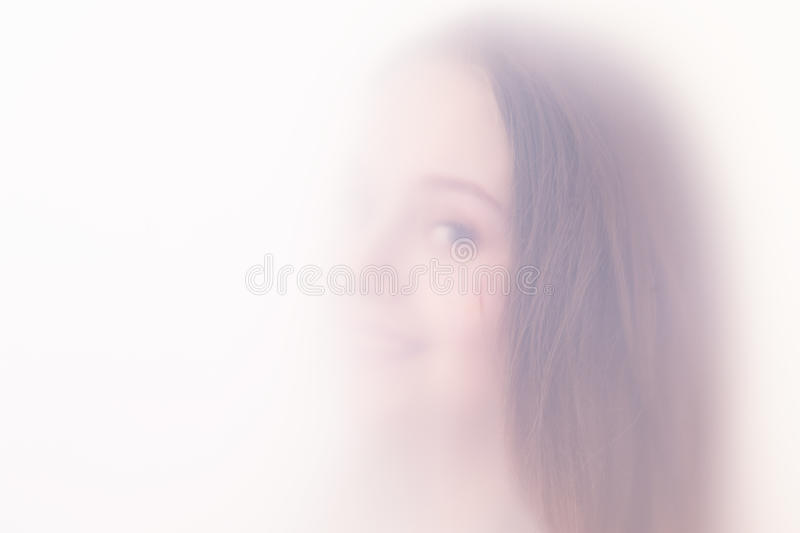 Download The teenager girl in a fog stock image. Image of teenager - 30577347