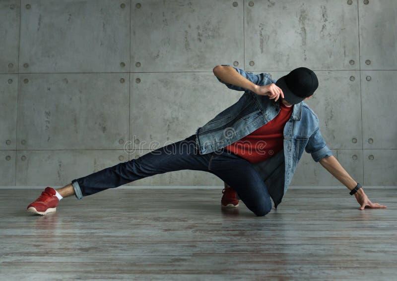 Teen boy dancing break dance royalty free stock photography