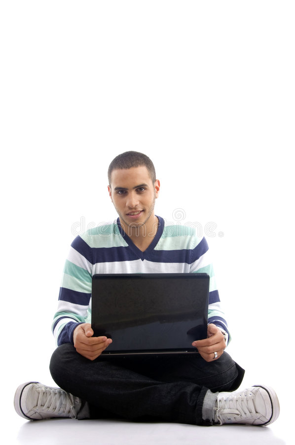 Free Teenager Guy Working On Laptop Royalty Free Stock Photography - 7208767