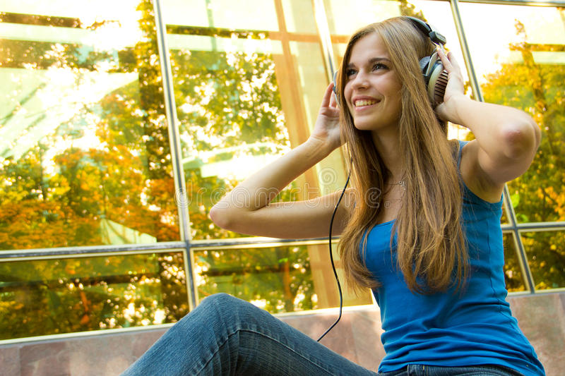 Download Teenager with headphones stock photo. Image of young - 24353160