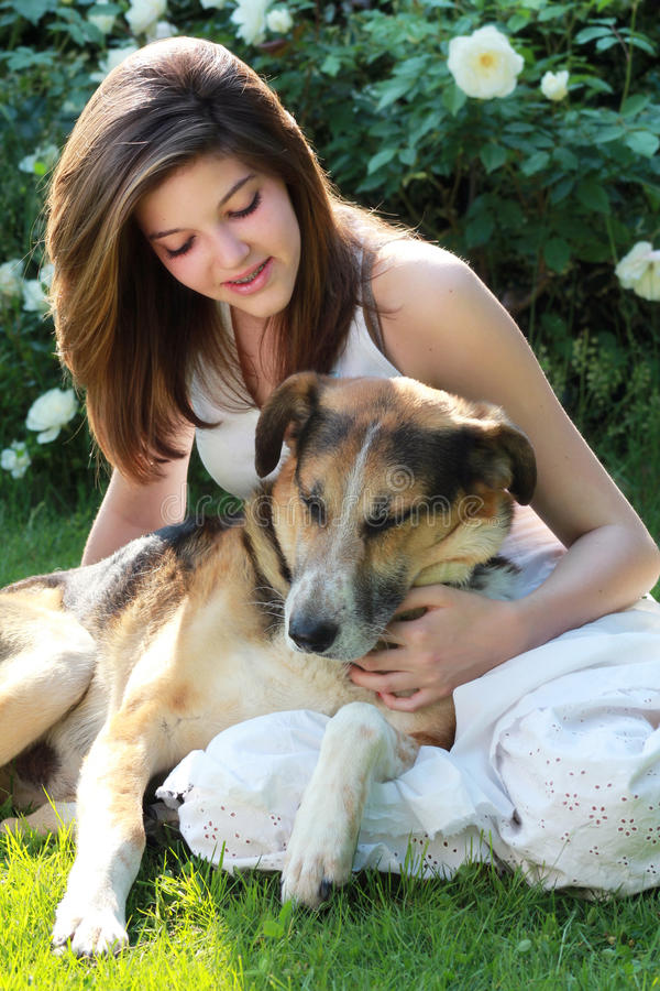 Download Teenager with her friend stock photo. Image of spring - 25154004