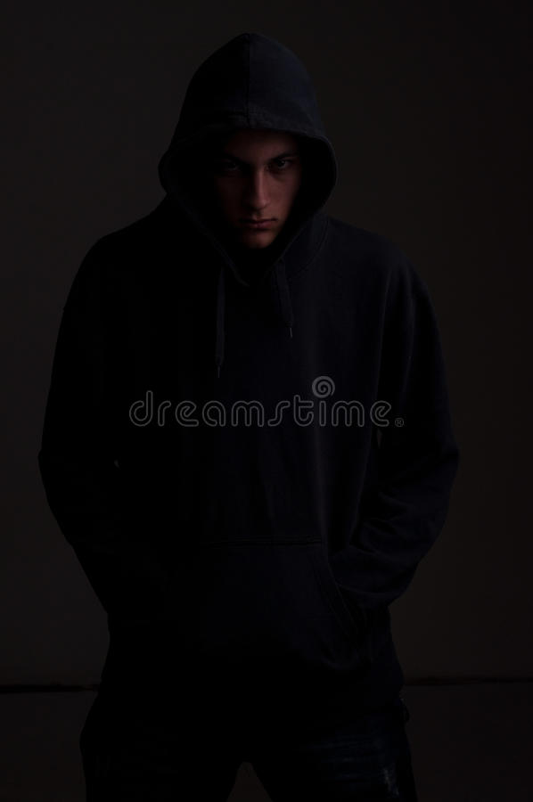 Download Teenager With Hoodie Looking To You Stock Photo - Image: 32685726