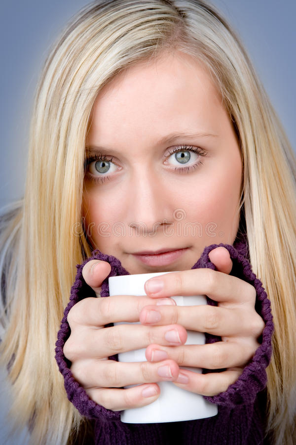 Download Teenager With Hot Drink Stock Photography - Image: 12715132