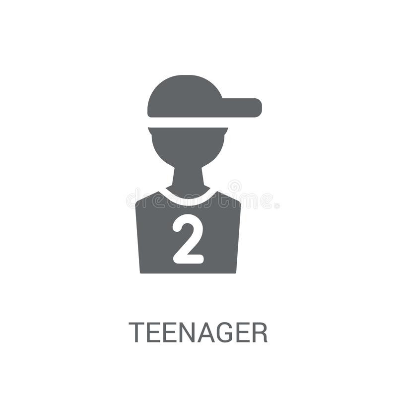 teenager icon. Trendy teenager logo concept on white background royalty free illustration