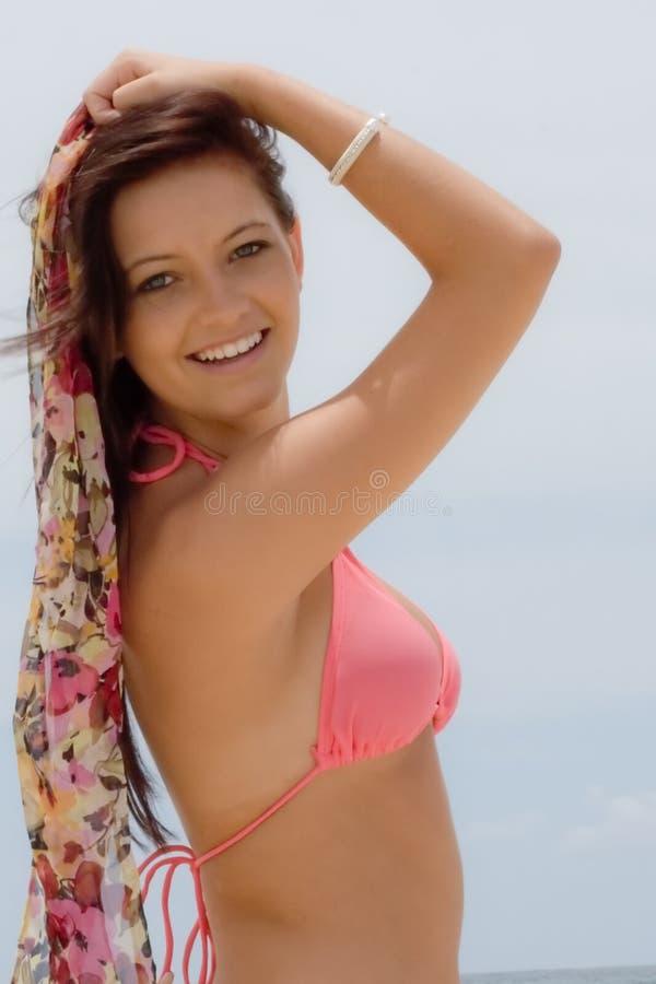 Free Teenager In Bikini By Ocean Royalty Free Stock Photos - 7743238