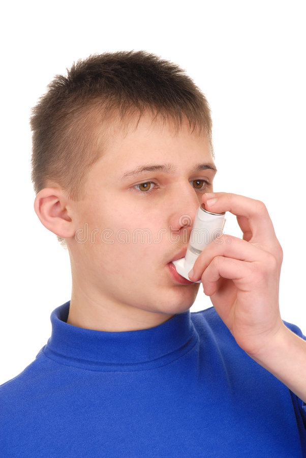 Download Teenager With Inhaler Royalty Free Stock Photos - Image: 5264328
