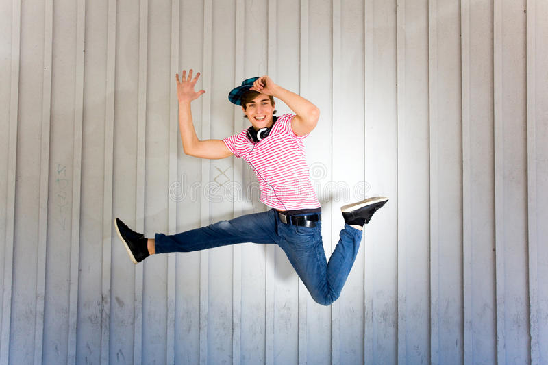 Download Teenager Jumping Royalty Free Stock Images - Image: 15035059