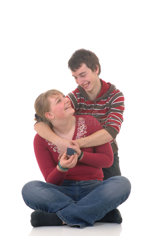 Teenager love stock photo